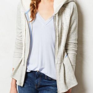 Anthropologie SaturdaySunday Jacquard PeplumHoodie